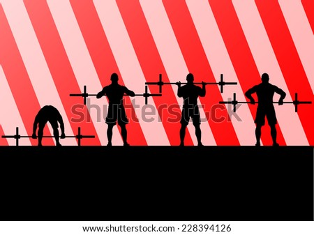 Crossfit training with weights vector background concept - stock vector