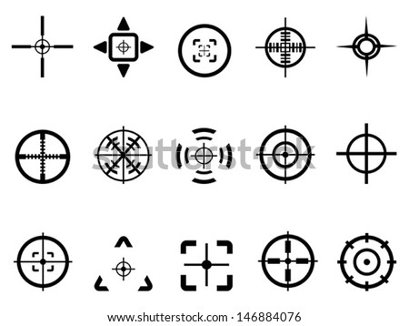 crosshair icon  - stock vector