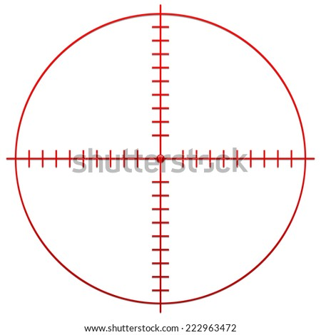 Crosshair, reticle - stock vector