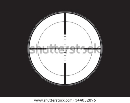 crosshair, reticle, vector - stock vector