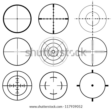 Crosshair set - stock vector