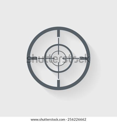Crosshair, Target icon - Vector - stock vector