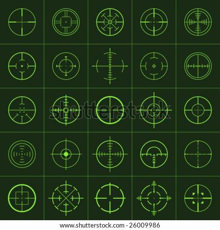 crosshairs - stock vector