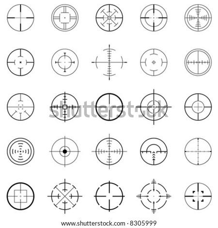 crosshairs - stock vector