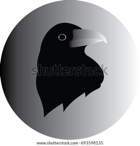 Crow logo stock vector 693598135 shutterstock crow logo sciox Choice Image