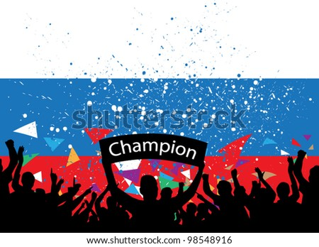 crowd cheer Russia