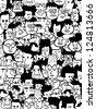 crowd faces - stock vector