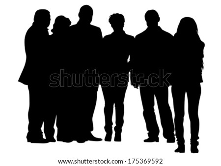 Crowds people man and women on street - stock vector