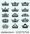Crown collection. Vector - stock vector