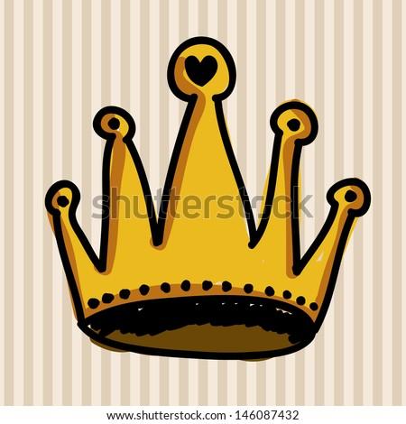 crown design over lineal background vector illustration  - stock vector