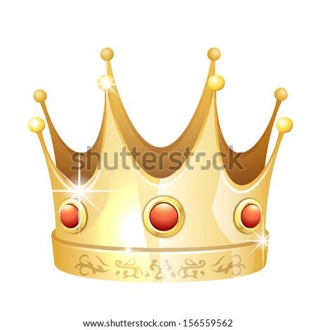 crown icon - stock vector