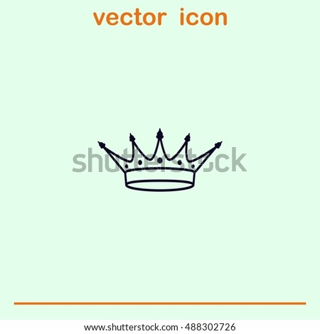 Crown icon. Finance Icon, vector illustration. Flat design style.