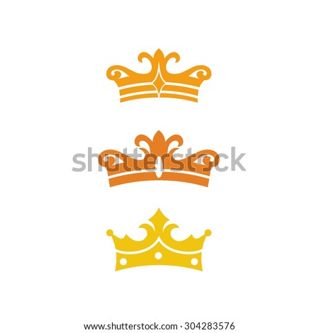 Crown Template Royal Elegance Logo Stock Vector
