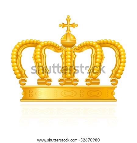Crown, vector - stock vector