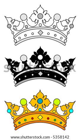 Crown (vector) - stock vector