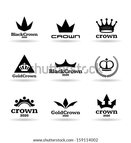 Crowns (4) - stock vector