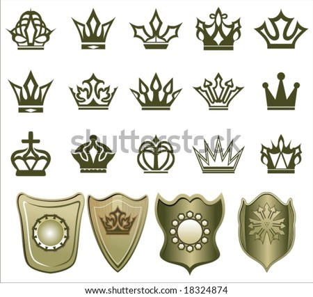 crowns - stock vector
