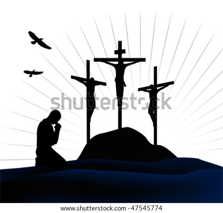 Cross silhouette Stock Photos, Images, & Pictures ...