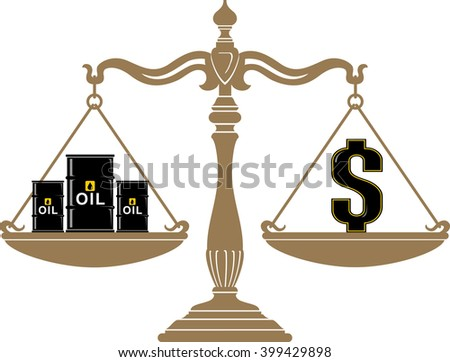 crude oil barrel price on weighing stock vector 399429898 shutterstock