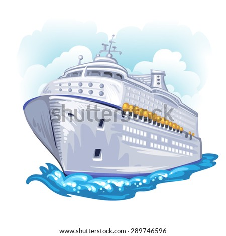 Cruise liner - stock vector