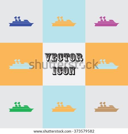 Cruise sea ship - Vector icon  - stock vector