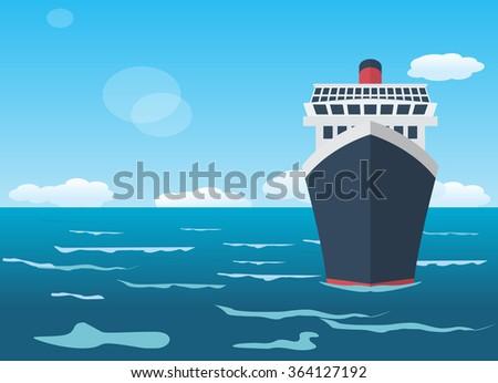 Cruise ship, holiday concept - stock vector
