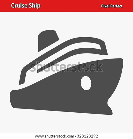 Cruise Ship Icon. Professional, pixel perfect icons optimized for both large and small resolutions. EPS 8 format. - stock vector