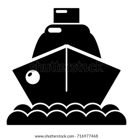 Cruise Ship Icon Simple Illustration Of Vector For Web Design Isolated On