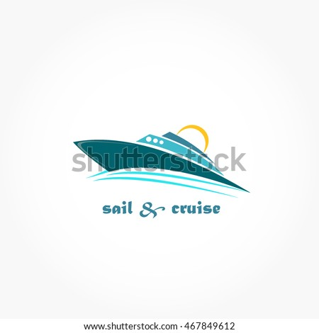 cruise ship logo vector
