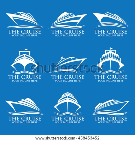 Cruise Ship Logos Stock Vector Shutterstock - Cruise ship logos