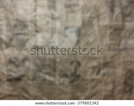 Crumpled page of newspaper, blurred vector paper texture. - stock vector