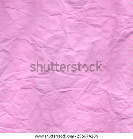 Crumpled Pale Magenta Paper Texture.  Vector illustration. Use to create backgrounds and fills to add dimensions to your artwork. - stock vector