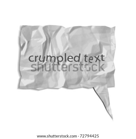 Crumpled paper bubble - stock vector