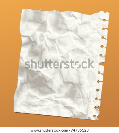 Crumpled paper, eps