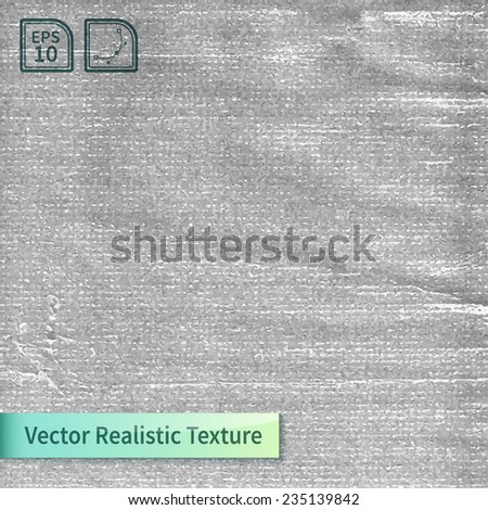Crumpled polyethylene film. Wrapping  realistic vector texture for your design. - stock vector