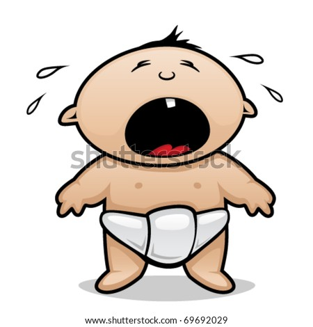 Crying baby - stock vector