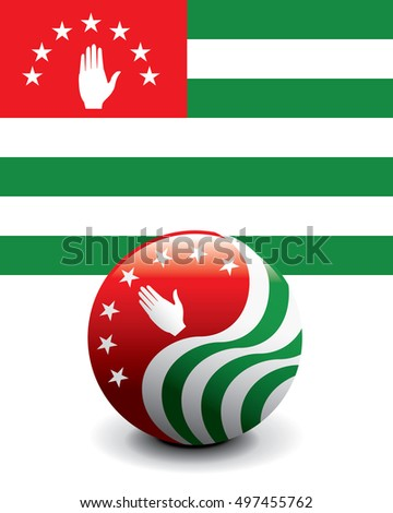 Crystal Ball Flag - Abkhazia