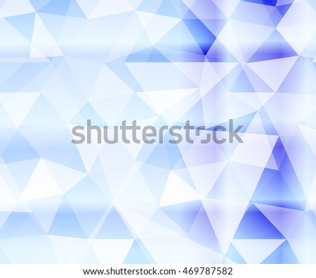 crystal blue backdrop of the polygonal elements. for decoration of Christmas backgrounds, design, printing, presentations. vector illustration