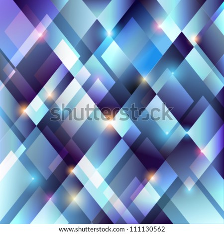 Crystal blue background - vector illustration. - stock vector