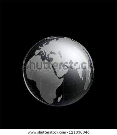 Crystal Earth Globe - stock vector