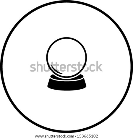 crystal fortune ball symbol - stock vector