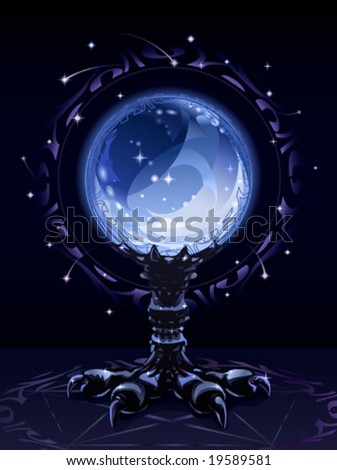 Crystal scrying ball