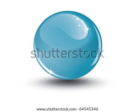Crystal sphere, vector - stock vector