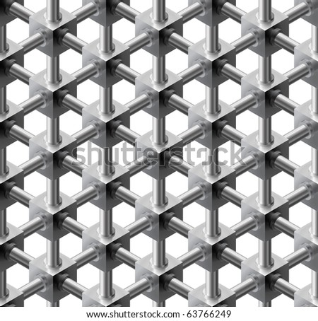 Crystalline seamless pattern - vector background for continuous replicate. - stock vector