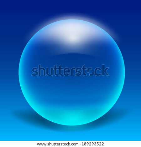 Crytal blue bubble vector EPS10