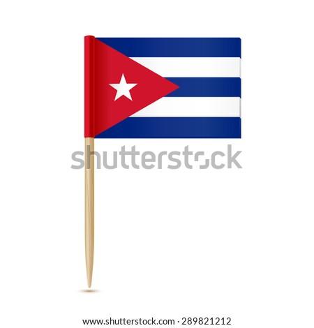 Cuba flag toothpick 10eps - stock vector