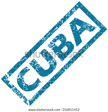 Cuba grunge rubber stamp on a white background. Vector illustration  - stock vector