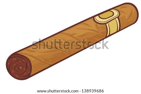 cuban cigar (cartoon cigar) - stock vector