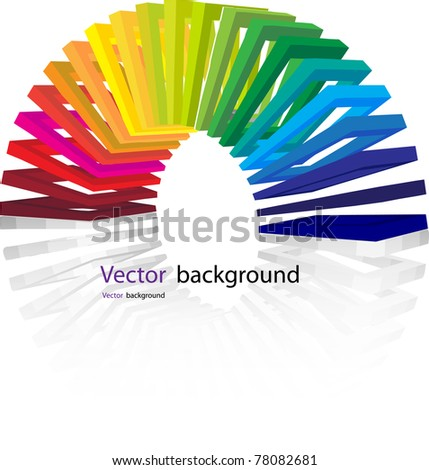 Cube color. Vector format - stock vector