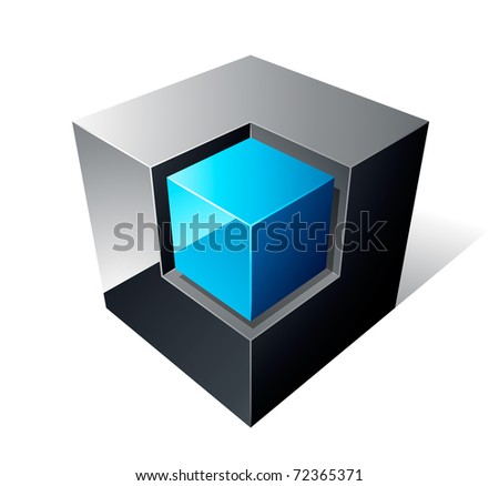 cube design - stock vector